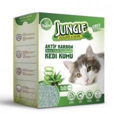 Jungle Aleovera Özlü Karbonlu Süper Hızlı Topaklanan Kedi Kumu 6lt