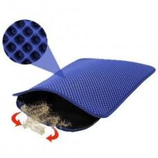 Elekli Kedi Tuvalet Önü Paspası 60 x 45 Cm mavi