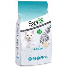 SaniCat Aktive (Active) Oksijenli Dezanfektan İnce Taneli Doğal Kedi Kumu 10 Lt