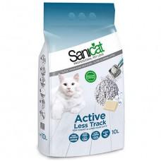 SaniCat Aktive (Active) Patilere Yapışmayan Kalın Taneli Kedi Kumu 10 Lt